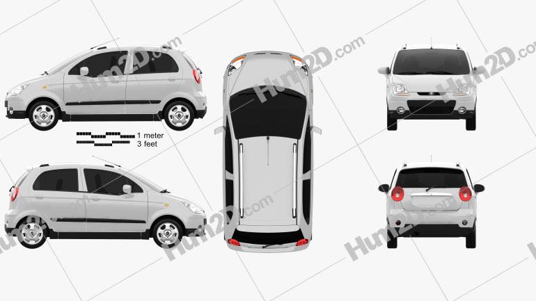 Daewoo Matiz M250 2011 Clipart Image