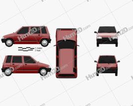 Daewoo Tico 1993 car clipart