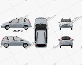 Daewoo Tacuma 2004 car clipart