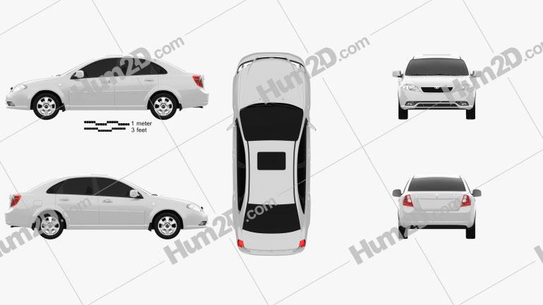 Daewoo Gentra 2013 car clipart