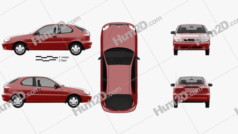 Daewoo Lanos 3-door 1997