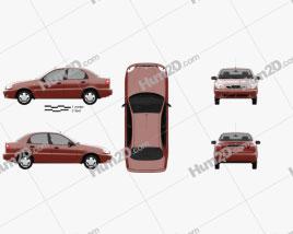 Daewoo Lanos (T100) 1998 car clipart