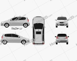Daewoo Gentra X 2008 Clipart