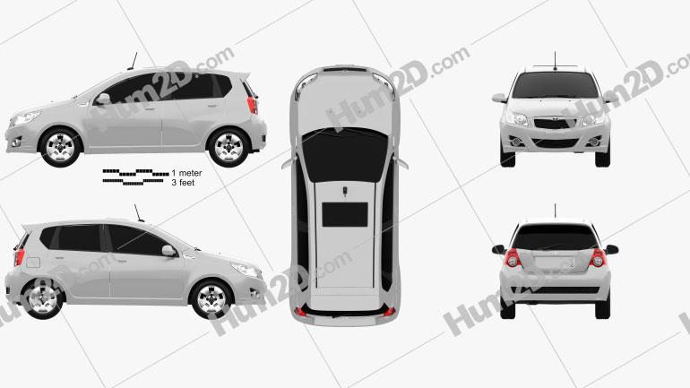 Daewoo Gentra X 2008 Clipart Image