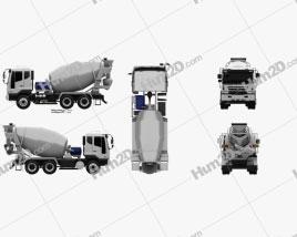 Daewoo Novus SE Mixer Truck 2012 clipart