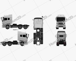 Daewoo Ultra Prima Tractor Truck 2008 clipart