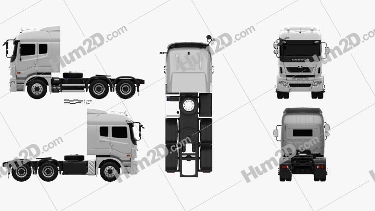 Daewoo Ultra Prima Tractor Truck 2008 Clipart Image