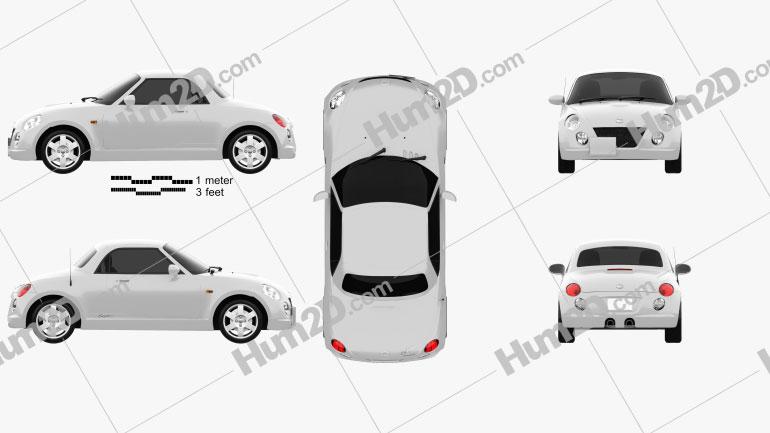 Daihatsu Copen 2011 Clipart Image