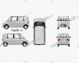 Daihatsu Tanto 2003 clipart
