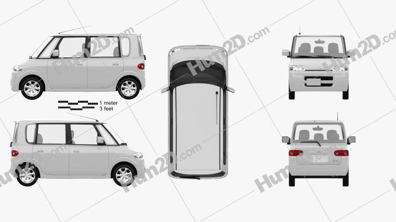 Daihatsu Tanto 2003 Clipart Image
