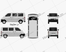 Daihatsu Gran Max Minibus 2012 Clipart