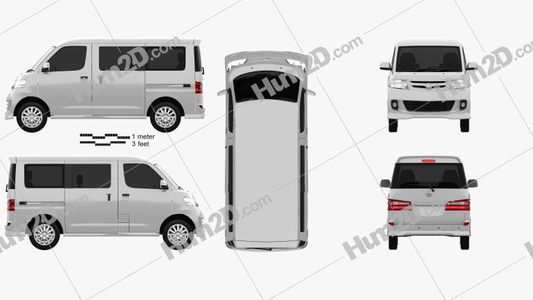 Daihatsu Luxio 2013 clipart