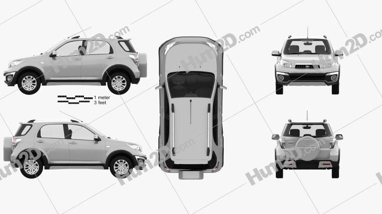 Daihatsu Terios 2013 Clipart Bild