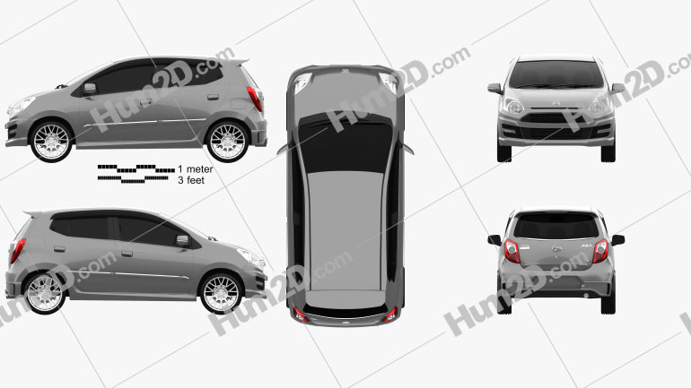 Daihatsu Astra Ayla Sporty 2013 Clipart Image