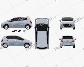 Daihatsu Astra Ayla 2013 car clipart