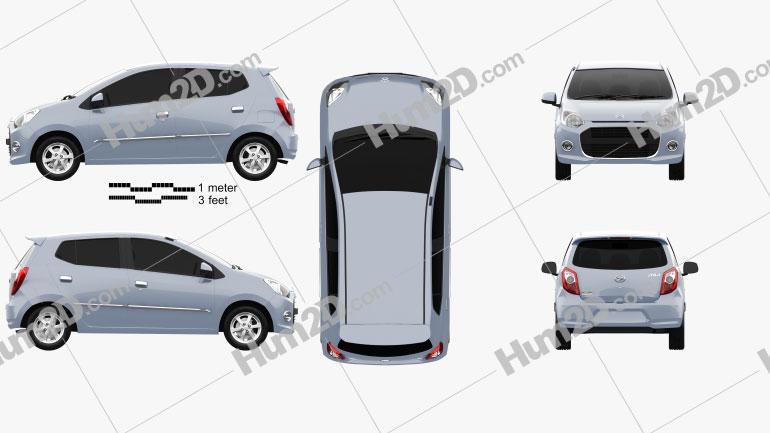 Daihatsu Astra Ayla 2013 Clipart Image