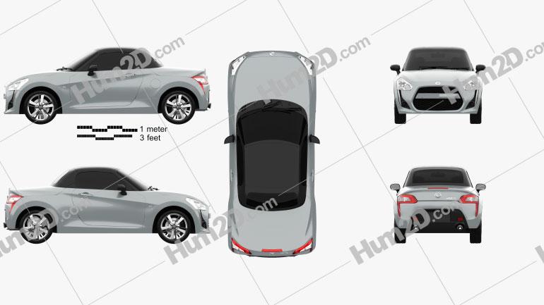 Daihatsu Copen Robe 2014 car clipart