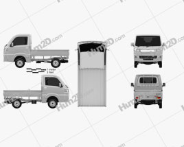 Daihatsu Hijet Truck 2014 clipart
