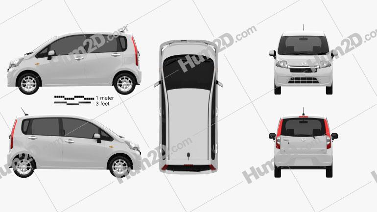 Daihatsu Move 2012 car clipart