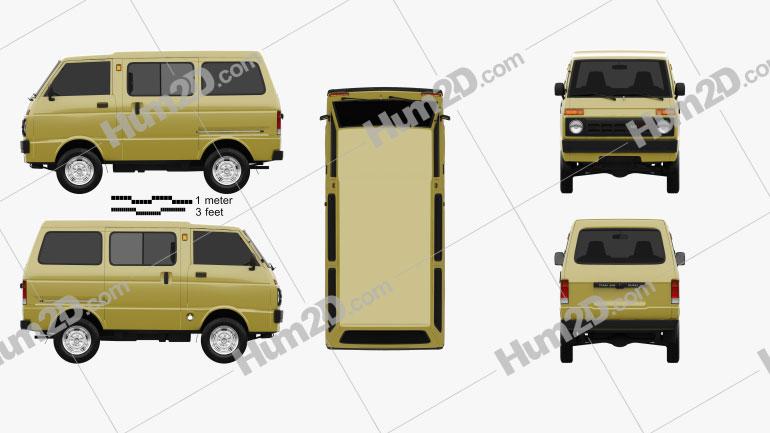Daihatsu Hijet Tianjin TJ 110 1981 clipart