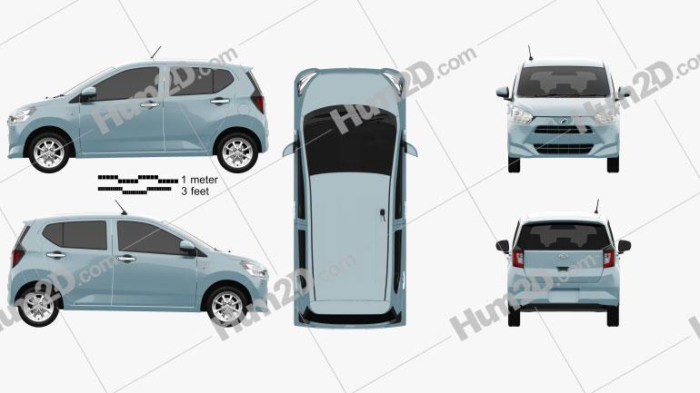 Daihatsu Mira e:S 2017 car clipart