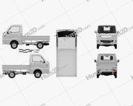 Daihatsu Hijet Truck with HQ interior 2014