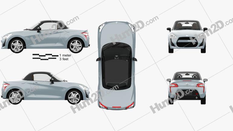 Daihatsu Copen Robe with HQ interior 2014 car clipart