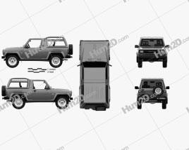 Daihatsu Rocky Wagon 1987 Clipart