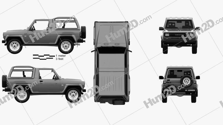 Daihatsu Rocky Wagon 1987 Clipart Image