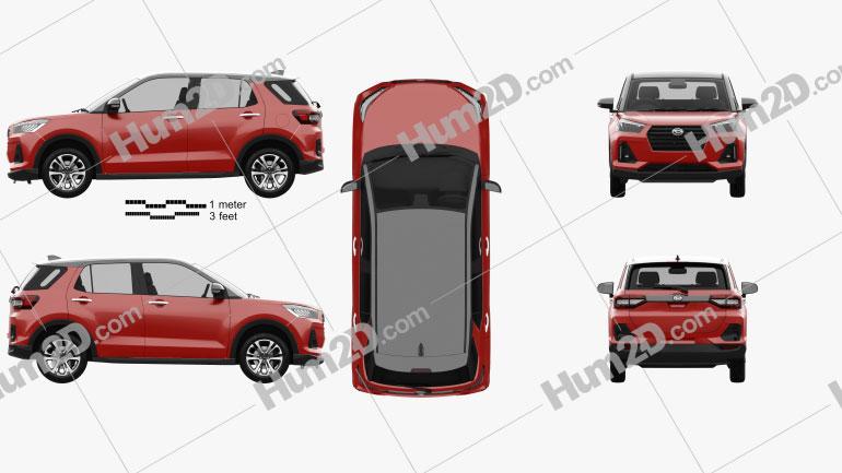 Daihatsu Rocky 2019 car clipart