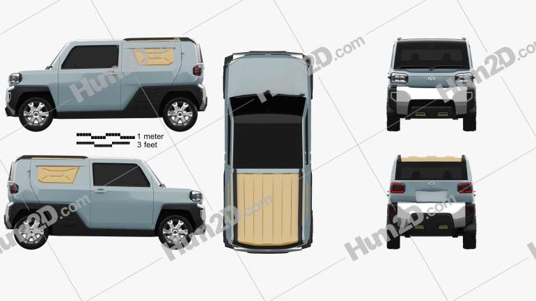 Daihatsu Waku Waku 2019 car clipart