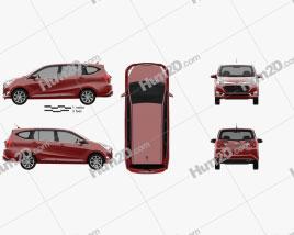 Daihatsu Astra Sigra 2016 Clipart