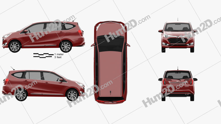 Daihatsu Astra Sigra 2016 car clipart