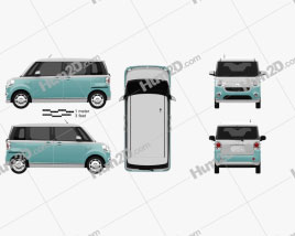 Daihatsu Move Canbus 2016 car clipart