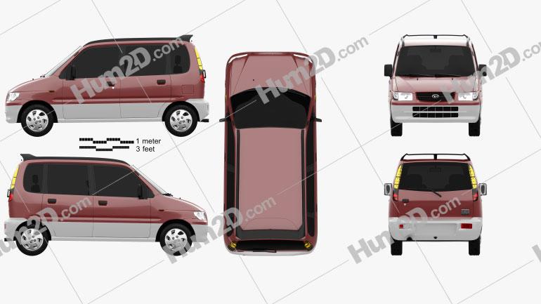 Daihatsu Move 1998 car clipart