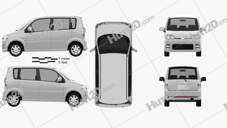 Daihatsu Move Custom 2004 car clipart
