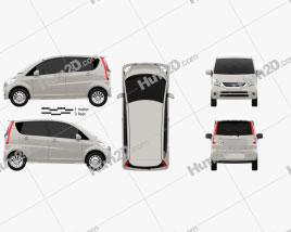 Daihatsu Move 2008 car clipart