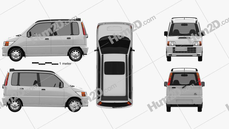 Daihatsu Move SR 1995 car clipart