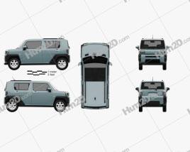 Daihatsu Taft 2020 car clipart