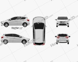 Daihatsu Sirion 2018 car clipart