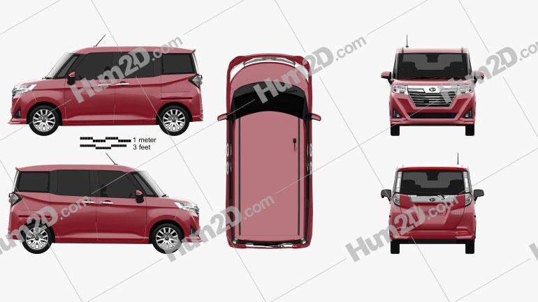 Daihatsu Thor Custom 2016 car clipart