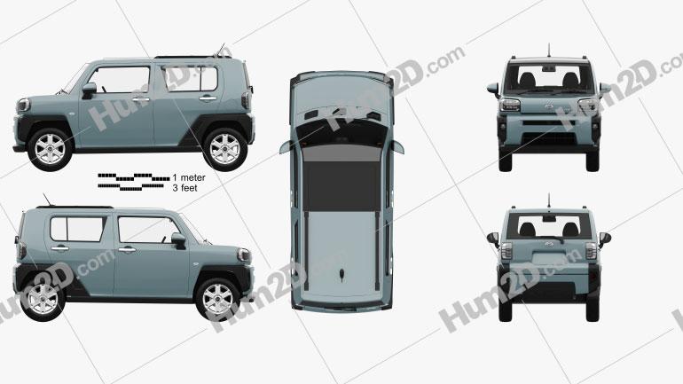 Daihatsu Taft with HQ interior 2020 car clipart