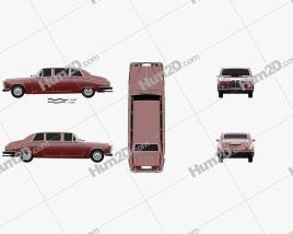 Daimler DS420 1987 Clipart