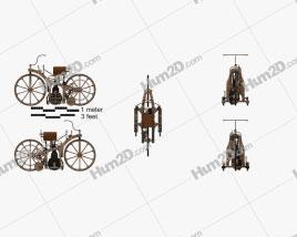 Daimler Reitwagen 1885 Clipart
