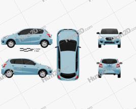 Datsun GO 2014 car clipart