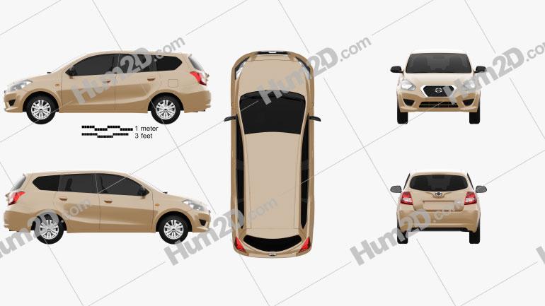 Datsun GO plus 2014 car clipart