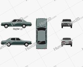 Datsun 280C sedan 1979 car clipart