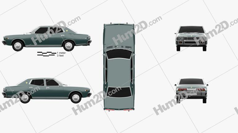 Datsun 280C sedan 1979 Clipart Image