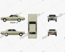 Datsun 200L 1977 car clipart