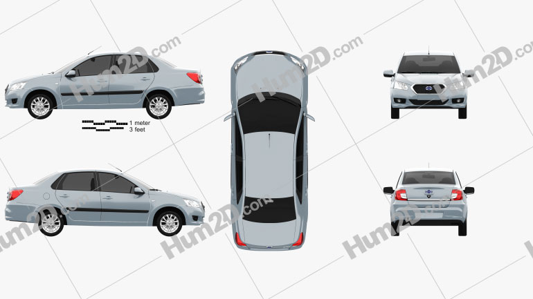 Datsun on-Do 2014 Clipart Image